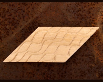 Carved Textile Stamp, African Design, Oshiwa Wood Printing Block, Item 131-16-6