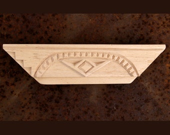 Carved Textile Stamp, African Design, Oshiwa Wood Printing Block, Item 89-16-3