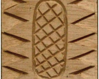 Carved Textile Stamp, African Design, Oshiwa Wood Printing Block, Item 10-17-8