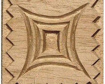 Carved Textile Stamp, African Design, Oshiwa Wood Printing Block, Item 10-17-4