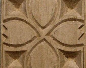 Carved Textile Stamp, African Tulip, Oshiwa Wood Printing Block, Item 10-17-7
