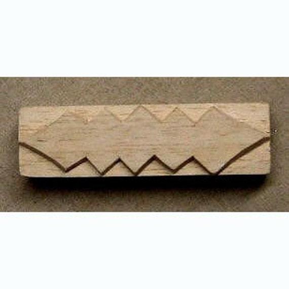 Oshiwa Carved Wood Printing Stamp, Tribal Design, 3''x 1'', Item 16-14-132