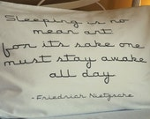 Sleep quote pillowcases custom screen printed - pick your pair