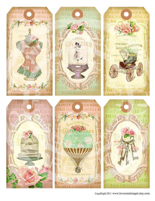 6 Vintage Paris French Antique Fairy Girl Keys Dress form