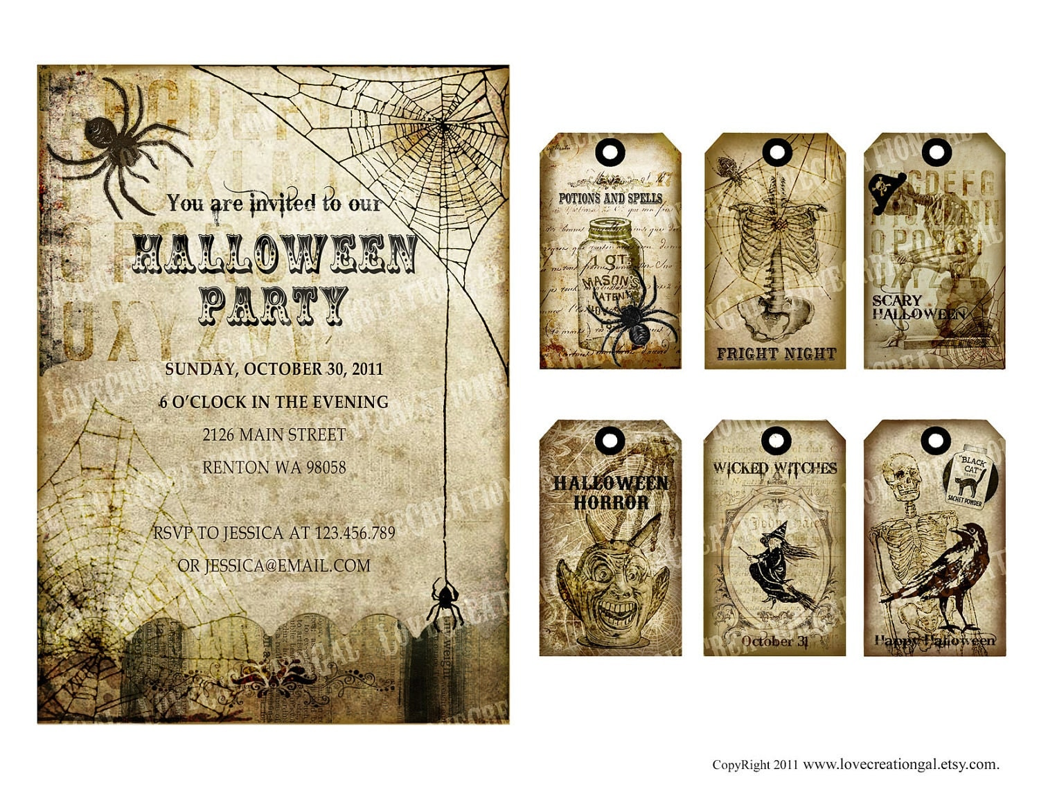 Impeccable image within vintage halloween printable