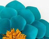 Turquoise & Gold Wallflowers (set of 3)