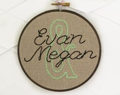 Personalized Name Embroidery Home Decor
