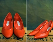 CLEARANCE The Perfect Red Pumps Size 9 1/2