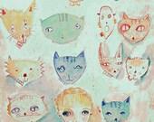The Cat Lady 5X7 Print