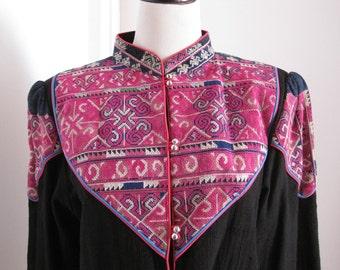 Gorgeous Tribal Hmong Pink Jacket
