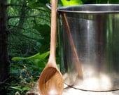 Soup Kettle Sauce Stockpot Spoon Long Handled Cherry Spoon Handmade