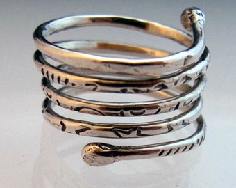 Sterling Silver Wrapping Ring Made To Order Your Size