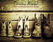 Fine Art Photography print of Cowgirl/Cowboy Boots Fatbaby's size 8 x 10