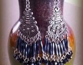 Antiqued Chandelier Earrings