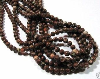 "Mica Quartz Round  Beads Semi Precious Gemstone Beads Craft Supplies Jewelry Supplies Full Strand 16"" 6mm"