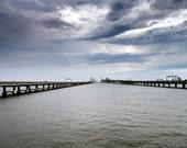 Chesapeake Bay Bridge, Maryland - 11x14 inch Photographic Print by Brendan Reals