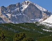 Long's Peak Showing the Diamond - 8x10 inch Photographic Print by Brendan Reals