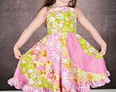 SALE Summer mix Twirl dress