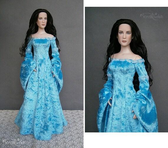 Medieval DRESS for Ellowyne Amber Lizette Thea, Tonner Tyler Sydney Arwen