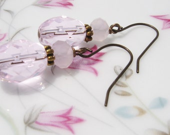 Pink and Rose Quartz Earrings