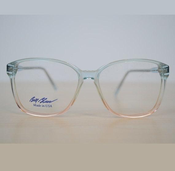 Awesome 80s Glasses Frames Fade Blue Beige Eyewear
