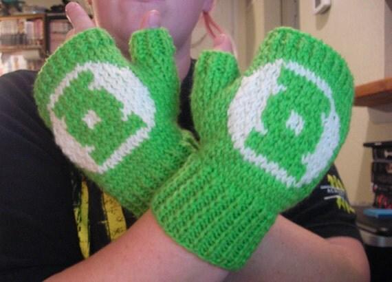 Green Lantern FIngerless Gloves / Wrist Warmers