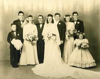Vintage Large Wedding Picture