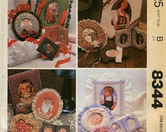 Vintage Picture Frames Pattern - McCall's 8344