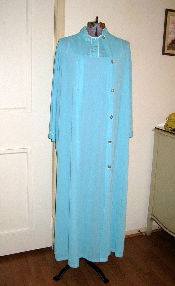Vintage Aqua Blue Nightgown Set