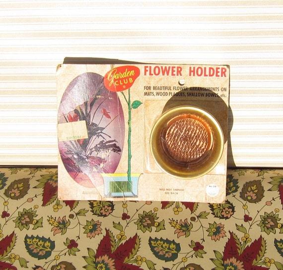 Vintage Flower Holder -  Flower Cup Arrangement Holder - Will not Tarnish Flower Cup -  Made in USA