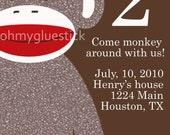 Sock Monkey Invitaiton