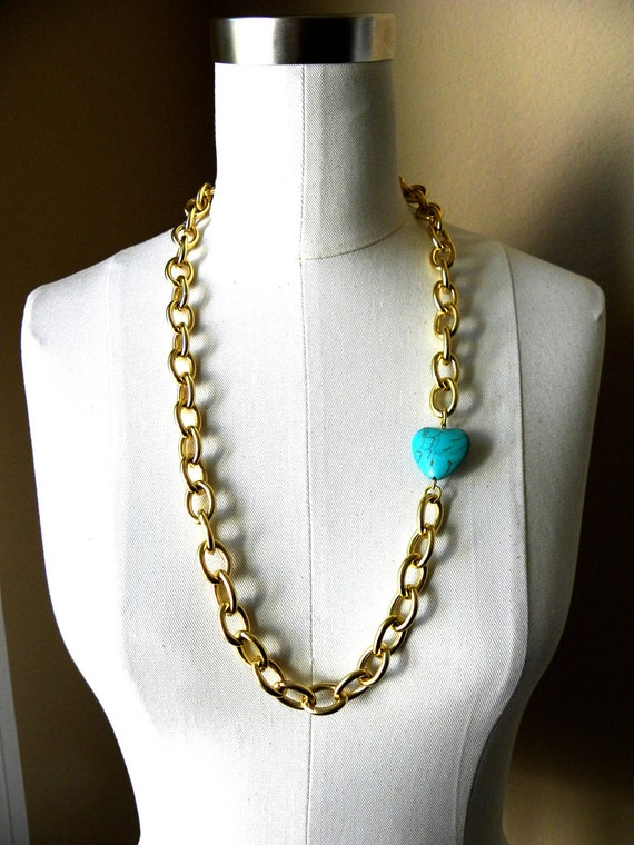 Nadine Turquoise Heart Necklace