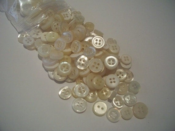 Bargain Bag of White Buttons