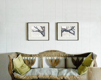 Pair of Browning prints, 8x10 in giclee of original watercolor calligraphy paintings