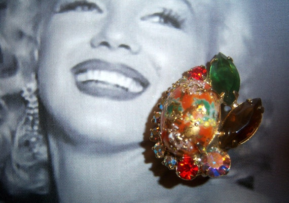 Juliana (Book Piece) Coral Easter Egg Cabochon Earrings