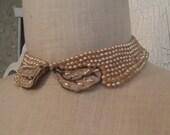 1950s Pearl Beaded Collar
