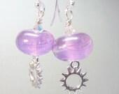 Handmade Lampwork Glass Bead earrings-OOAK-SRA