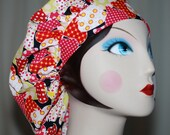 SWEET STRAWBERRY Banded Bouffant Surgical Cap by Nurseheadwear
