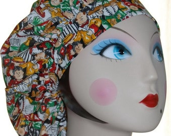 BUSY RESTAURANT Banded Bouffant Surgical Cap by Nurseheadwear