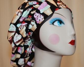I scream for icecream Banded Bouffant Surgical Cap by Nurseheadwear