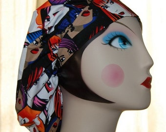80's Chic Banded Bouffant Surgical Cap by Nurseheadwear