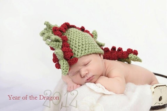 crochet dragon hat newborn photography prop