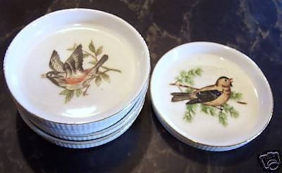 Set of  5 Made in Japan Bird Coasters