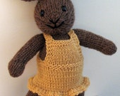 Phoebe--Hand Knit Wool Bunny