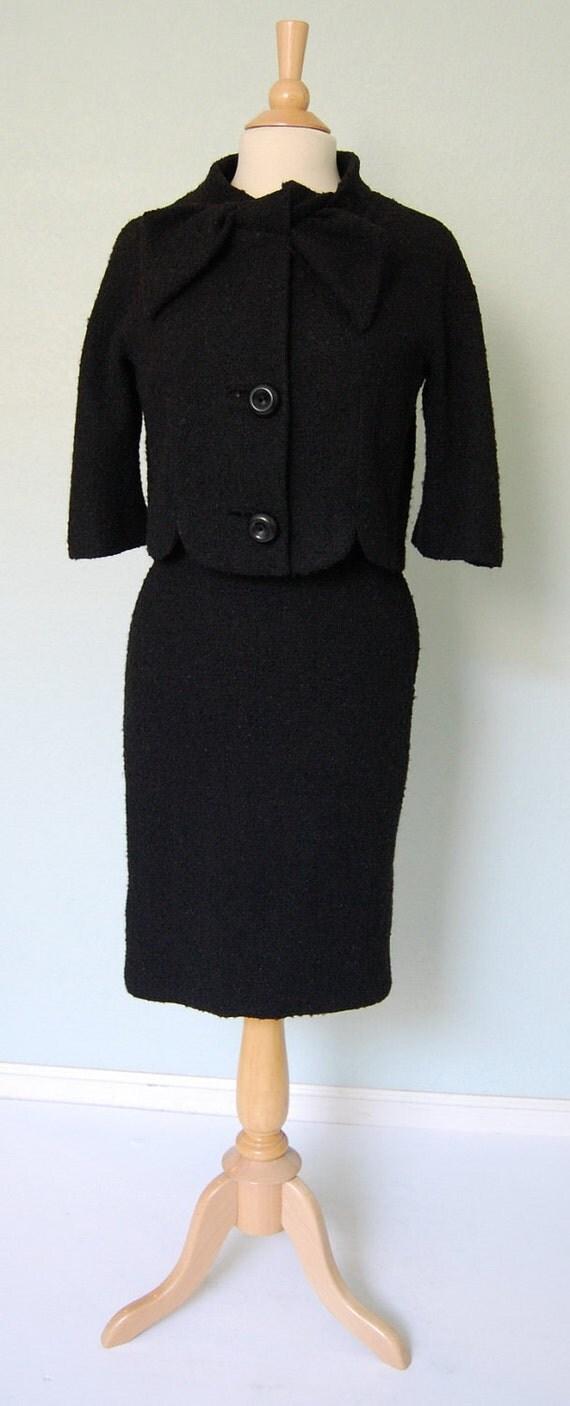 1950s Lilli Ann Boucle Skirt Suit - Classic Black