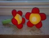 Flower Rattle - PDF Crochet Pattern