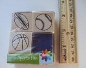 Sports Fan Rubber Stamp Set