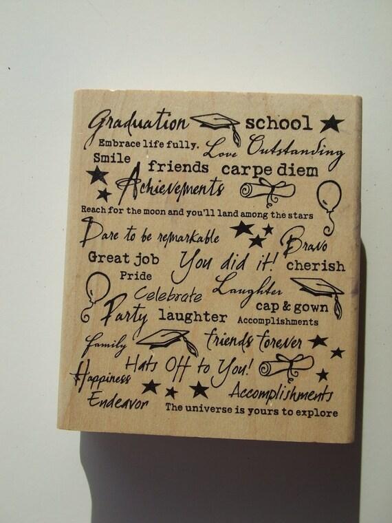 Graduation Rubber Stamp