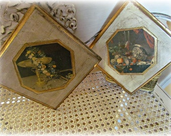 SALE! Vintage Wall Hangings ITALY Set of two.