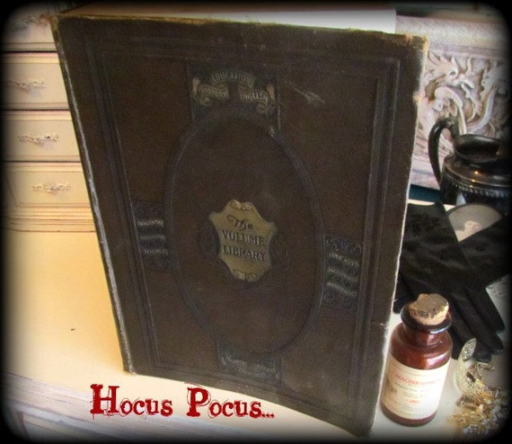 ON SALE Leather Book Volume Library Price LOWERED